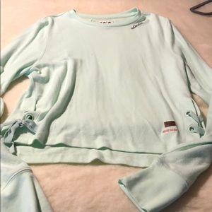 Peace love world light sweater large mint color